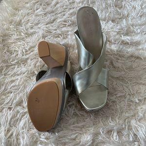 Gold platform sandals